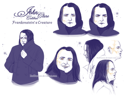Penny Dreadful - John Clare Sketches by RedPassion
