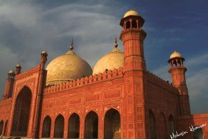 Badshahi mosque - perspective by mohsinkhawar