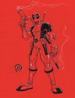 Con Dead Pool color paper by JoeyVazquez