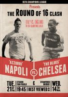 Chelsea vs. Napoli Retro Poster by canyonlord