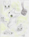 Toothless Sketches by TheSnickers545
