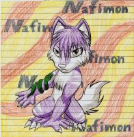 Nafimon my digimon by LunaWolf444444Neko