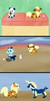 First Meetings by Pikachu-And-Umbreon