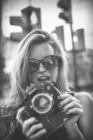 Nerea with a camera by pedraxas