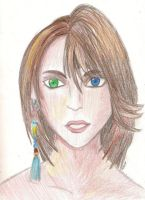 another drawing of Yuna by missMaxx