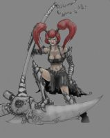 Scythe Witch Rough Paint by Galiford