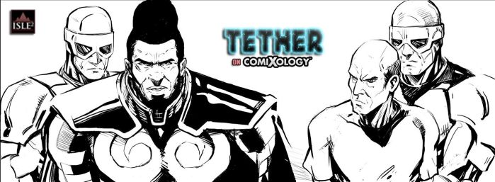 Tether 7 pg 014 inks WIP by IsleSquaredComics