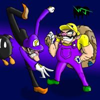 Wario and Waluigi by Dr-Disappointment