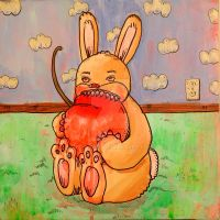 Tan Cherry Bunny by MBLASTER