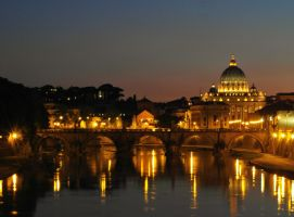 Rome at night by PhilsPictures