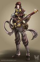 TF2: Steampunk Scout coloured by DarkLitria