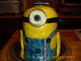minion cake finished 1 by toastles