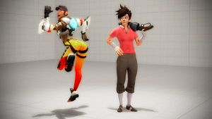 Role Reversal: Scout and Tracer by DarknessRingoGallery
