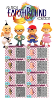 Animal Crossing: New Leaf QR Earthbound Collection by misterzero