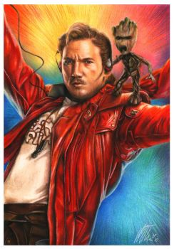 Star Lord and  Baby Groot - GOTG Vol.2 by MollyThomas