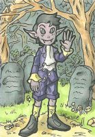 Timmy in Haunted Woods by ibroussardart