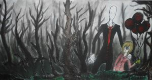 The Tall man in the woods by Alucardlovergirl321