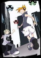 TWEWY Neku and Joshua by enchantma