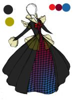 Dark Carnival Dress: Coloured by Sno-Oki