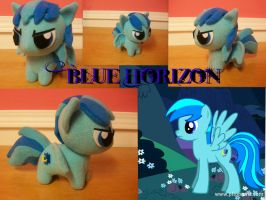 OC Blue Horizon Chibi Pony by happybunny86