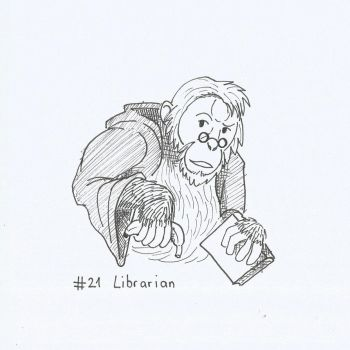 Inktober16 21 Librarian by HawkHunting