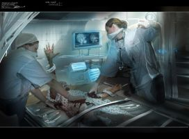 Zombie production art by alexdrummo