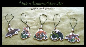 Verdant Varmints Charm Set by KatieHofgard