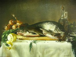 Still-life with fish.. by KRIS9TENA