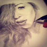 Female Pencil Portrait by farooky