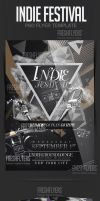 Indie Fest PSD Flyer Template by ImperialFlyers