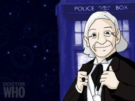 DrWho Caricature wallpaper - 1 by CrimsonReach