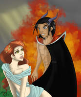 Persephone and Hades by KionaKina
