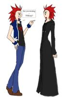 Axel:.Are you wearing Makeup? by kingdom-anime