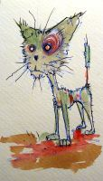 zombie kitteh doodle by BYRONvonREMPEL