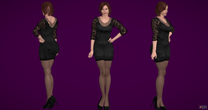 Claire Redfield Black Dress (updt) by Marcelievsky