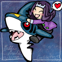 Shark and his Pokemon by GNGTNT105