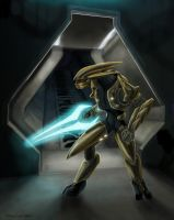 Silent Guard- Halo Fanart by jaxxblackfox