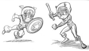 Captain A and Daredevil by tombancroft