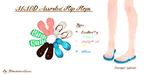 MMD Assorted Flip Flops by Tehrainbowllama