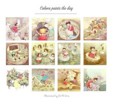 Children's book illustration:Colora paints the day by nguyenshishi
