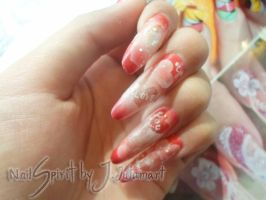 my nails in valentine day by Jutamart