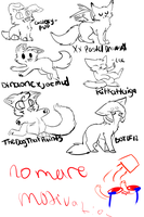 Drunkenly Drawn LS Requests by Bunniy