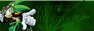 Scourge The Hedgehog Signature by Dingo-Sniper