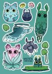 Owl Stickers 02 by Myrntai