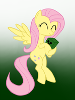 Fluttershy hugging a creeper by hushnowquietnow
