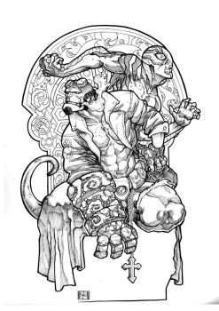 Hellboy and Abe by ozzie325