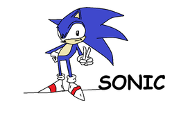 Sonic in Paint by crocrus