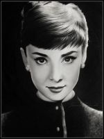 Audrey drawing by Ladowska