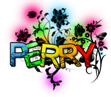 Perry Floral Text by JackPArt