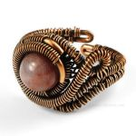 Copper and Fancy Jasper Adjustable Ring by sylva